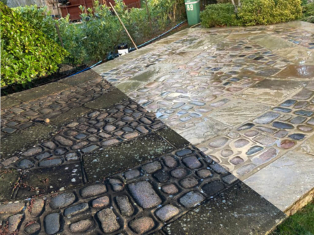 Patio cleaning & jet washing - Guide to removing moss from your patio