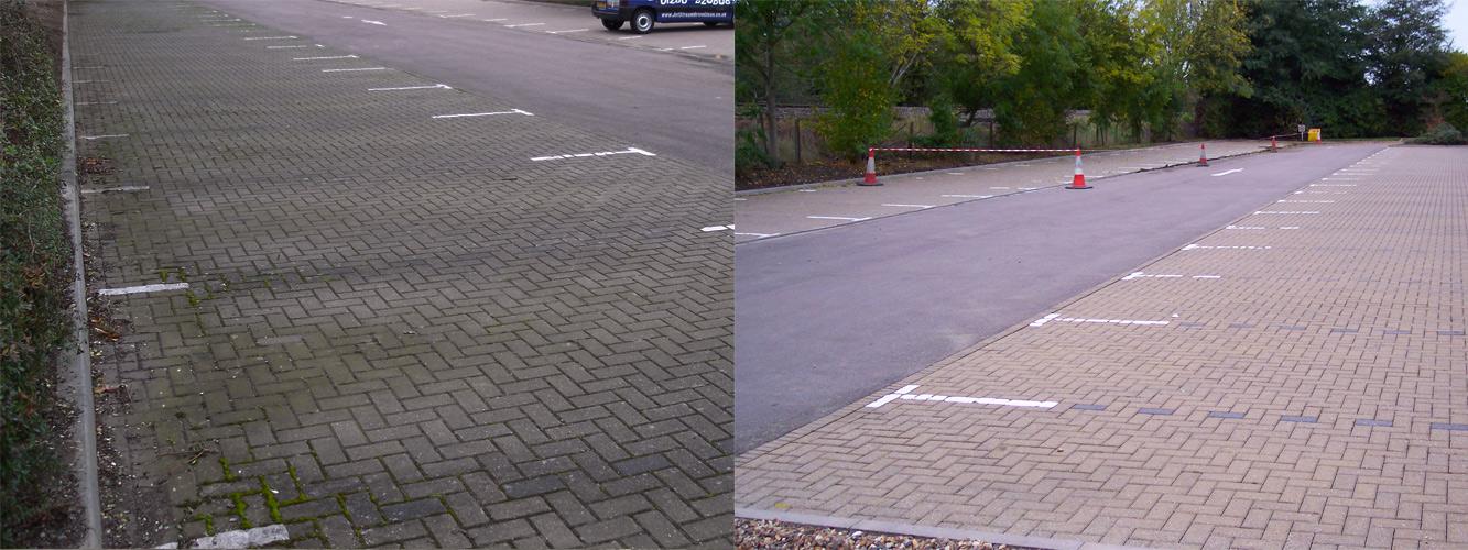 jetwashing carparks in Surrey