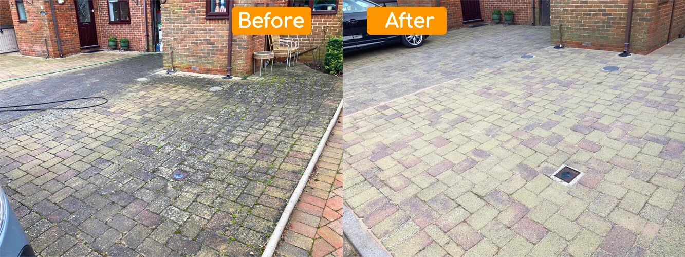 Before After Driveway Cleaning in Stoneleigh