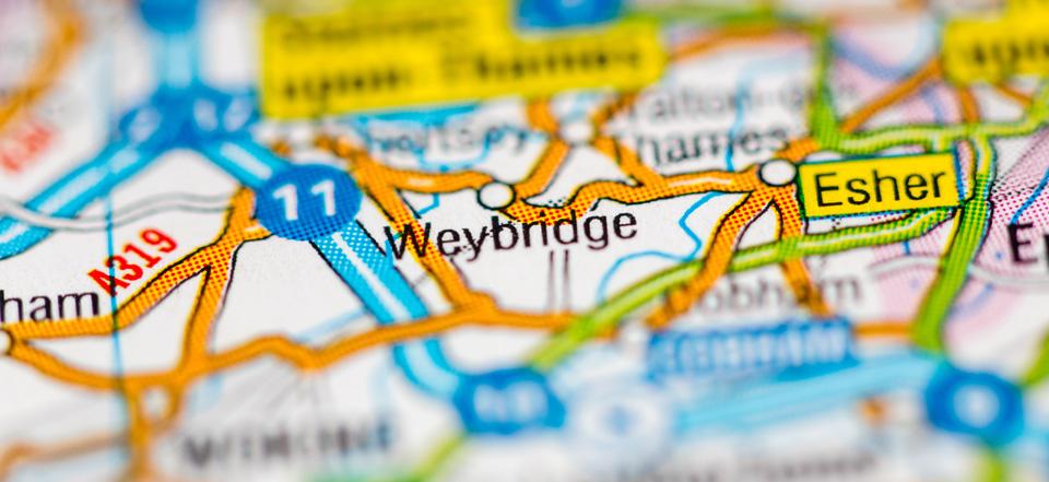 Blocked gutters Weybridge