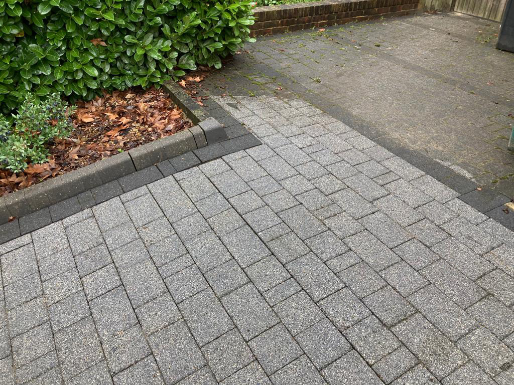 Block paving cleaning from Jet Wash Surrey