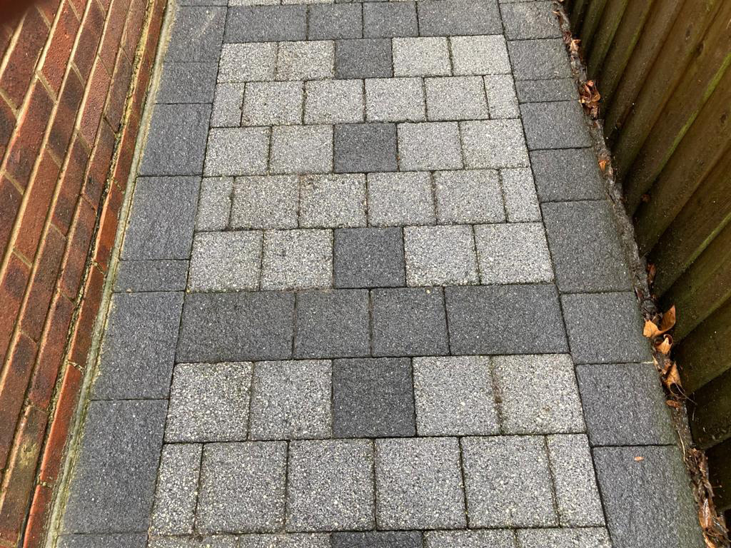 Side access paving jet washing in Surrey