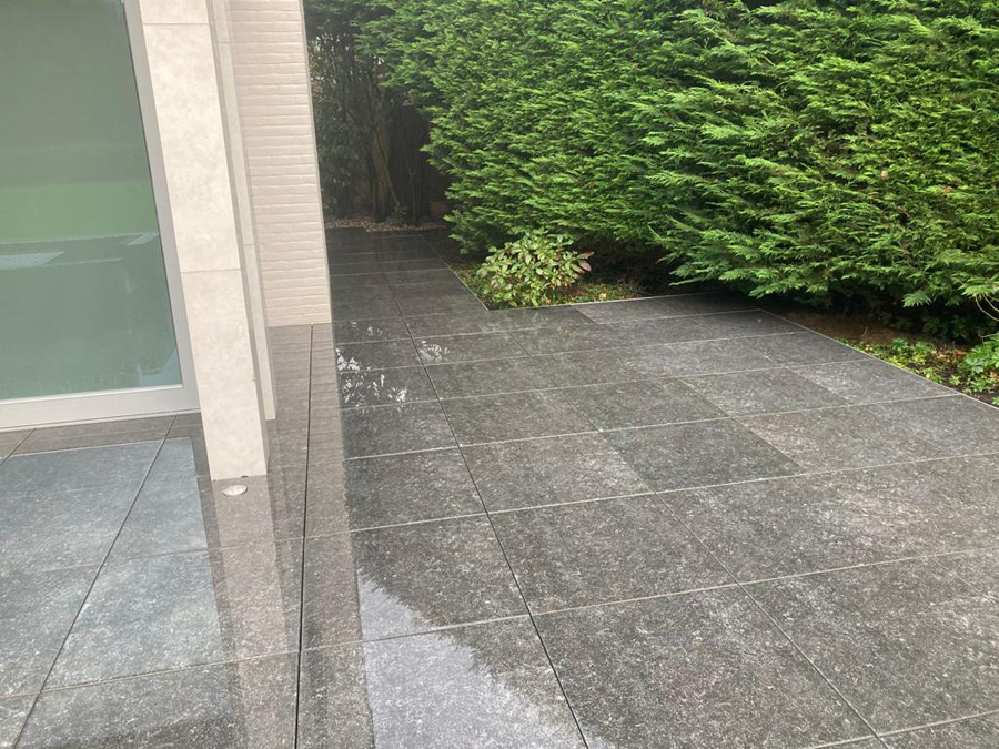 Jet washing patio in Surrey